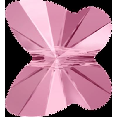 10 Swarovski Crystal Light Rose 8mm Butterfly Beads