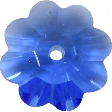 10 8mm Swarovski Crystal Sapphire Marguerite Flower Beads, Article 3700