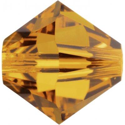 100 Swarovski Crystal Topaz 4mm bicone crystal Beads Article 5301/ 5328