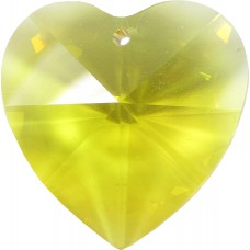 1 Topaz Swarovski Crystal Heart Pendant 28mm Article 6228