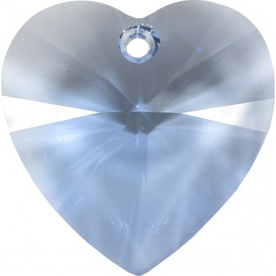 1 Light Sapphire Swarovski Crystal Heart Pendant 28mm Article 6228