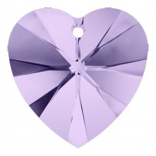 1 Violet Swarovski Crystal Heart Pendant 28mm Article 6228
