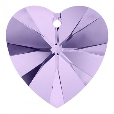 1 Violet Swarovski Crystal Heart Pendant 28mm Article 6228