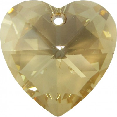 1 Swarovski Crystal Golden Shadow Heart Pendant 28mm Article 6228