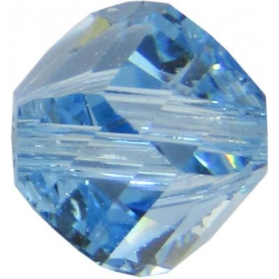 20 Swarovski Crystal Aquamarine 6mm Helix Beads