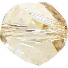 20 Swarovski Crystal Golden Shadow 6mm Helix Beads article 5020