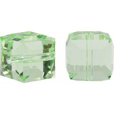10 Swarovski Crystal Chrysolite 6mm Cube Beads Article 5601
