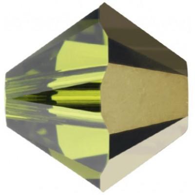 50 Swarovski Crystal 4mm Olivine Dorado 1x Bicone Beads Article 5301/ 5328