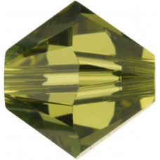 50 Khaki 5mm Swarovski Crystal Bicone Beads Article 5301/ 5328
