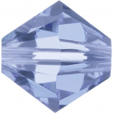 100 4mm Swarovski Crystal Light Sapphire Bicone Bead Article 5301/ 5328