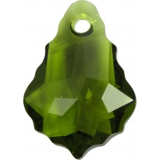 2 Swarovski Crystal Olivine Baroque Pendant Drops Article 6090