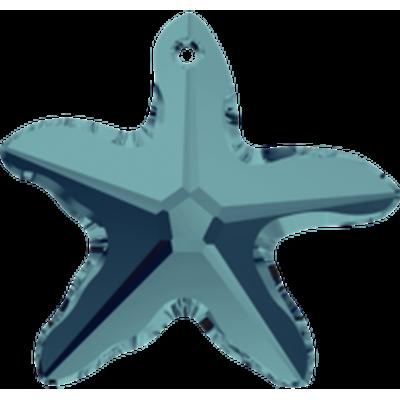1 Swarovski Crystal Indicolite 16mm Starfish Pendant