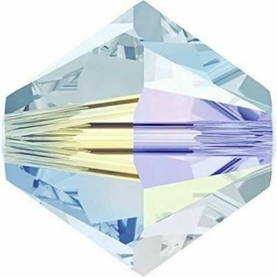 50 Swarovski Crystal Light Azore AB (2X) 4mm Bicone Beads Article 5301/ 5328