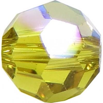 20 Swarovski Crystal 6mm Lime AB Round Beads Article 5000