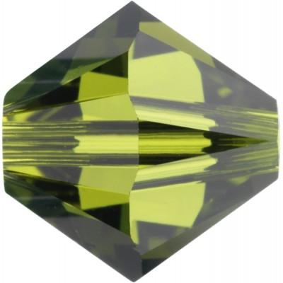 50 Swarovski Crystal Olivine 5mm Crystal Bicone Beads Article 5301/ 5328