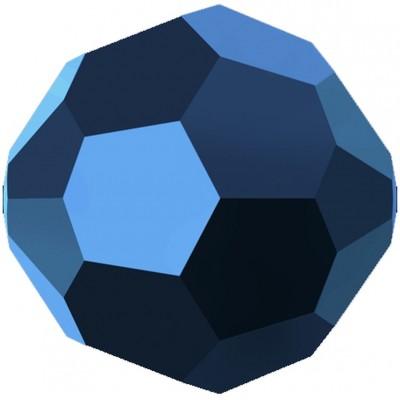 20 Swarovski Crystal 6mm Crystal Metallic Blue Round Beads Article 5000