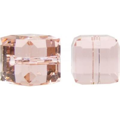 10 Swarovski Crystal Vintage Rose 6mm Cube Beads Article 5601
