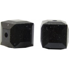 10 Swarovski Crystal 5601 4mm Jet Black Cube Beads Article 5601