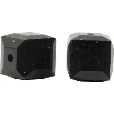 10 Swarovski Crystal 5601 4mm Jet Black Cube Beads Article 5601