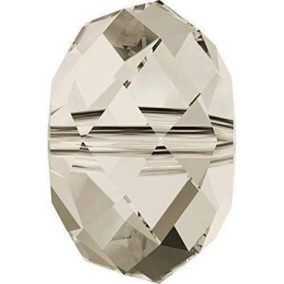 20 Swarovski Crystal 5040 Crystal Silver Shade 6mm Rondelle Beads