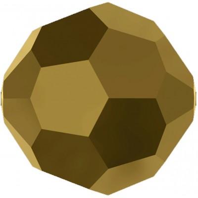 20 Swarovski Crystal 6mm Crystal Dorado 2x Round Beads Article 5000