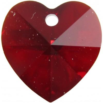 10 Swarovski Crystal Light Siam/ AB Heart Pendants Article 6228