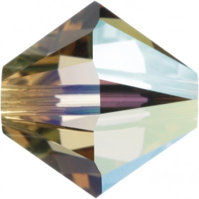 50 Swarovski Crystal Light Colorado Topaz AB 5mm Bicone Beads Article 5301/ 5328