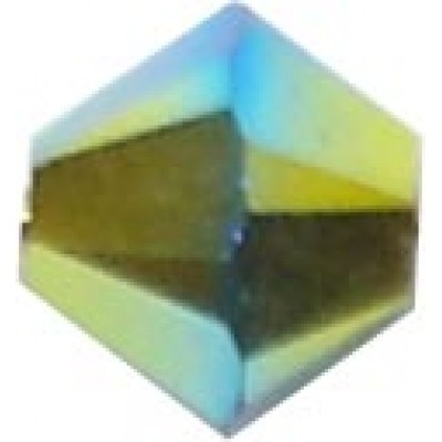 50 Swarovski Crystal Jet AB 2x 5mm Bicone Beads Article 5301/ 5328