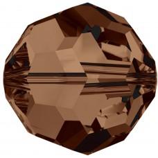 20 Swarovski Crystal 6mm Smoked Topaz Round Beads Article 5000