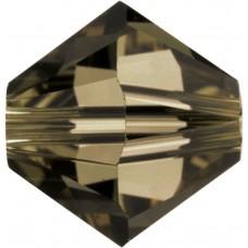 100 Swarovski Crystal Smoky Quartz 4mm Bicone Beads Article 5301/ 5328