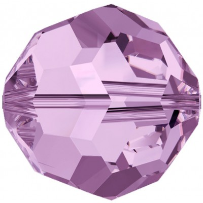 20 Swarovski Crystal 6mm Light Amethyst Round Beads Article 5000