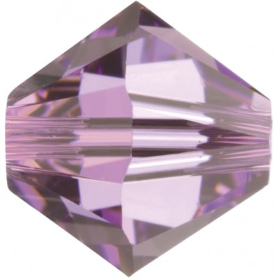 50 Swarovski Crystal Light Amethyst 5mm Bicone Beads Article 5301/ 5328