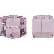 10 Swarovski Crystal Light Amethyst 6mm Cube Beads Article 5601