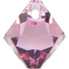 10 Swarovski Crystal 6301 Light Rose Top Drilled Bicone 6mm Beads