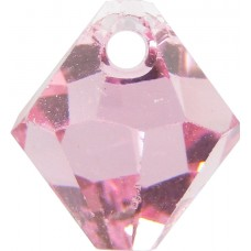 10 Swarovski Crystal 6301 Light Rose Top Drilled Bicone 6mm Beads