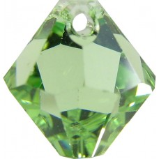 10 Swarovski Crystal 6301 Peridot Top Drilled 8mm Bicone Beads