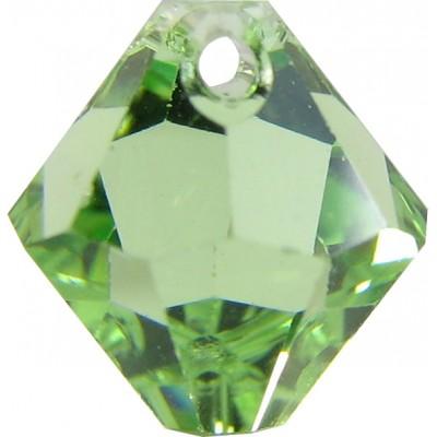 10 Swarovski Crystal Peridot Top Drilled 8mm Bicone Beads Article 6301