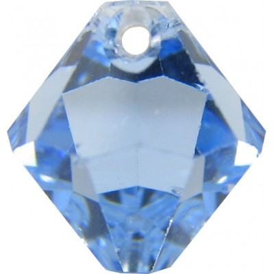 10 Swarovski Crystal Light Sapphire Top Drilled 6mm Bicone Beads Article 6301