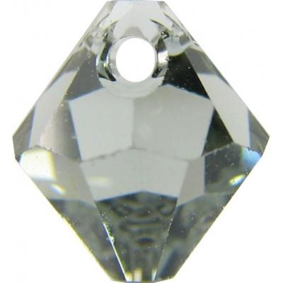 10 Swarovski Crystal Black Diamond Top Drilled 6mm Bicone Beads Article 6301