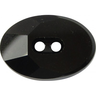 1 Swarovski Crystal 3026 Jet Button