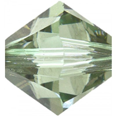 50 Swarovski Crystal 4mm Chrysolite Satin Bicone Beads Article 5301/ 5328