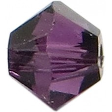 50 Swarovski Crystal 4mm Amethyst Satin Bicone Beads Article 5301/ 5328