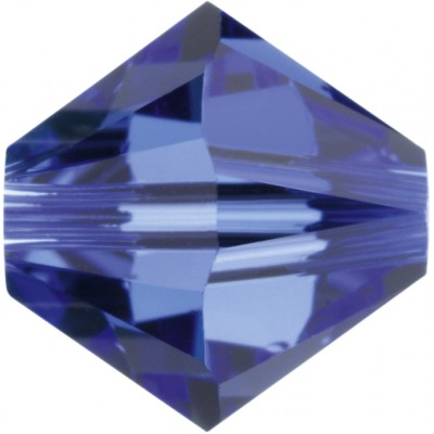 50 5mm Swarovski Crystal Sapphire Bicone Beads Article 5301/ 5328