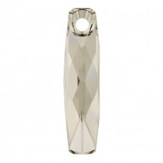 1 Swarovski Crystal 6460 Crystal Silver Shade Oblong Pendant Drop