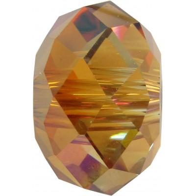 1 Swarovski Crystal Copper 18mm Large Hole Rondelle Bead Article 5041