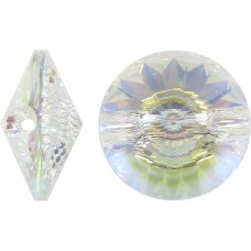 1 Swarovski Crystal Transmission V Button