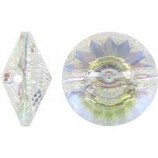 1 Swarovski Crystal Transmission V Button