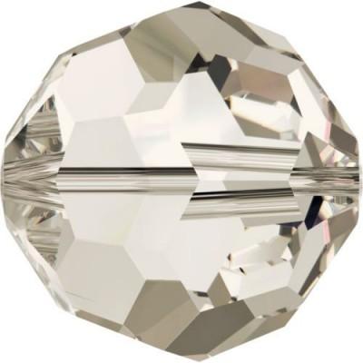 20 Swarovski Crystal Silver Shade 4mm Round Beads Article 5000