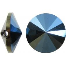 1 Swarovski Crystal Metallic Blue Foiled Button
