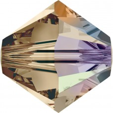 50 Swarovski Crystal 4mm Smoky Quartz AB Bicone Beads Article 5301/ 5328
